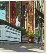 Sidewalk In Saint Helena Wood Print