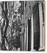 Sidewalk Scene-charleston Wood Print