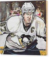 Sidney Crosby Wood Print by Dave Olsen