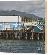Sidney Harbour Wharf Wood Print