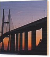 Sidney Lanier Bridge At Sunset Wood Print