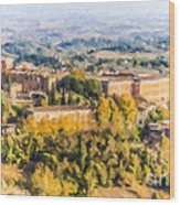 Siena Countryside Wood Print