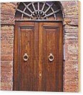 Sienna Door Wood Print