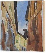Sienna Street Wood Print