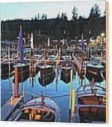 Sierra Boat Company Wood Print