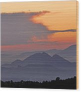 Sierra Elvira Mountains At Sunset Wood Print