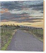 Sierra Foothills Wood Print