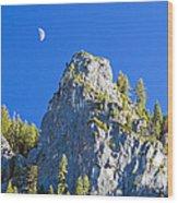 Sierra Moonrise Wood Print