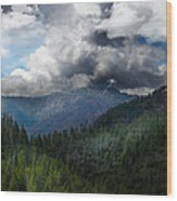 Sierra Nevada Lighting Strike Wood Print