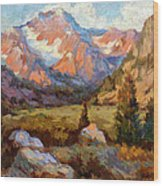 Sierra Nevada Mountains Wood Print