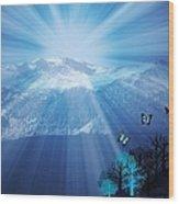 Sierra Radiance Wood Print