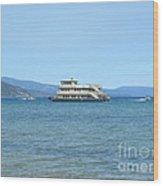 Sierra Rose Yacht On Lake Tahoe Wood Print