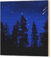 Sierra Stars Wall Mural Wood Print