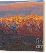 Sierra Wave 1 Wood Print