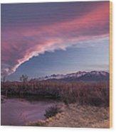 Sierra Wave And Lower Owens Wood Print