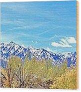 Sierras Peaking Wood Print