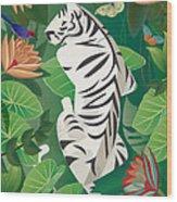 Siesta Del Tigre - Limited Edition 2 Of 15 Wood Print