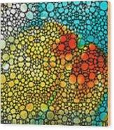 Siesta Sunrise - Stone Rock'd Art Painting Wood Print