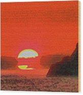Sifnos Sunset Wood Print