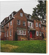 Sigma Phi Epsilon Fraternity On The Wsu Campus Wood Print by David Patterson