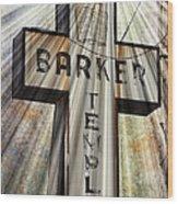 Sign - Barker Temple - Kcmo Wood Print