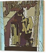 Sign Of The Jackalope Wood Print