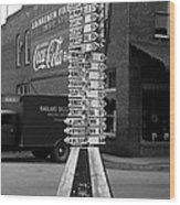 Sign Post In Crossville Tennessee 1939 Wood Print