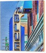 Sign - The Blue Room - Jazz District Wood Print