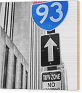 Interstate 93 Wood Print