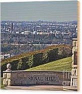 Signal Hill Wood Print