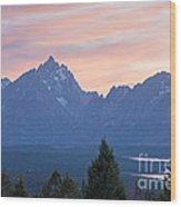 Signal Mountain Grand Teton National Park Wood Print