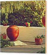 Signed Art Focal Point Outdoor Pottery Wood Print
