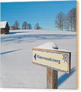 Signpost Wood Print