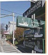 Signs Greenport New York Wood Print