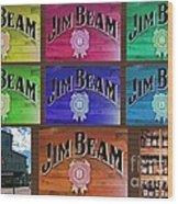 Signs Of Jim Beam Wood Print