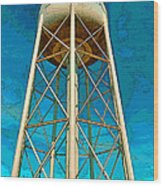 Sikeston Water Tower Iv Wood Print
