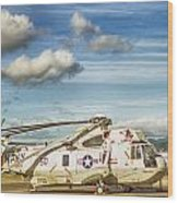 Sikorsky Sh-60b Seahawk Helicopter Wood Print