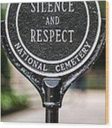 Silence And Respect Wood Print by Steve Gadomski