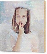 Silent Angel Wood Print by Stephanie Frey