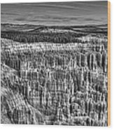 Silent City Wood Print
