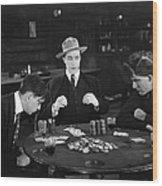 Silent Film Still: Gambling Wood Print