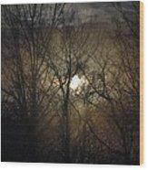 Silent Foggy Sunrise Wood Print
