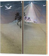 Silent Night - Gently Cross Your Eyes And Focus On The Middle Image Wood Print