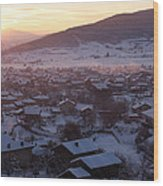 Silent Winter Sunset  Wood Print