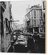 Silenzio Venice Italy Wood Print