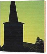 Silhouette Church Wood Print