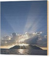 Silhouette Island Wood Print