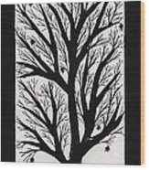 Silhouette Maple Wood Print by Barbara St Jean