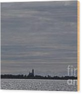 Silhouette Of Isle Royale Lighthouse Isle Royale National Park Wood Print by Jason O Watson