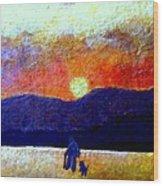 Silhouette of Solitude Wood Print